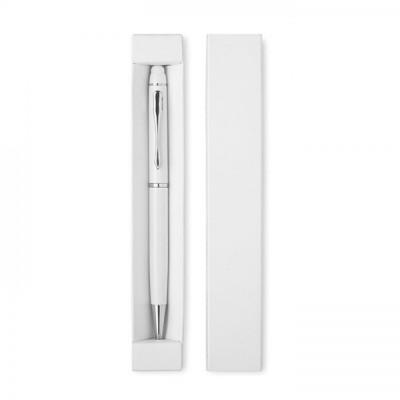 EDUAR Długopis aluminiowy z touchpenem biały