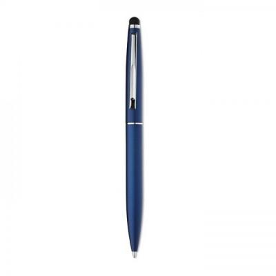 QUIM Aluminiowy, przekręcany długopis z końcówką touchpen granat