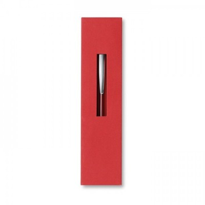 THEBOX Aluminiowy długopis na przycisk w kartonowym opakowaniu czerwony