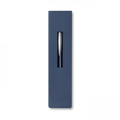 THEBOX Aluminiowy długopis na przycisk w kartonowymopakowaniu granatowy