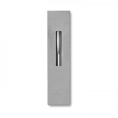 THEBOX Aluminiowy długopis na przycisk w kartonowym opakowaniu srebrny