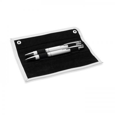 GEMELLO Zestaw piśmienniczy aluminiowy długopis i automatyczny ołówk w etui biały