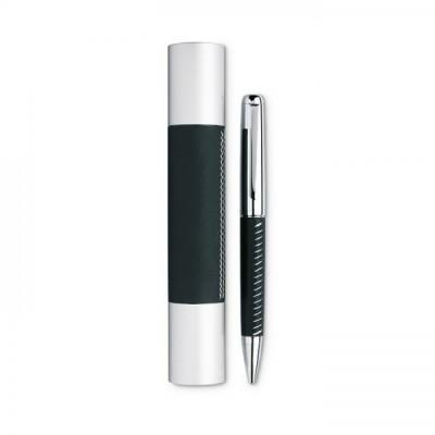 PREMIER Metalowy długopis w aluminiowej tubie czarny