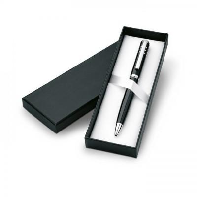 OLYMPIA Przekręcany, metalowy długopis w kartonowym ozdobnym pudełku czarny