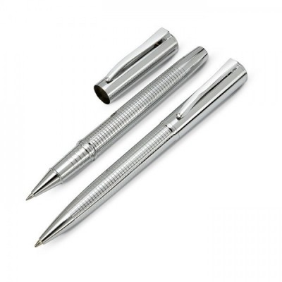 MARGA Metalowy długopis i cienkopis w ozdobnym pudełku