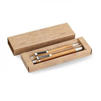 BAMBOOSET Bambusowy zestaw piśmienniczy w papierowym kartoniku.