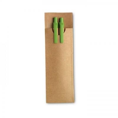 GREENSET Zestaw piśmienniczy wykonany z papieru pochodzącego z recyclingu.(liminkowy)