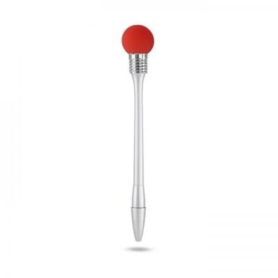 HITMETOO Długopis z lampką srebrno/zielony