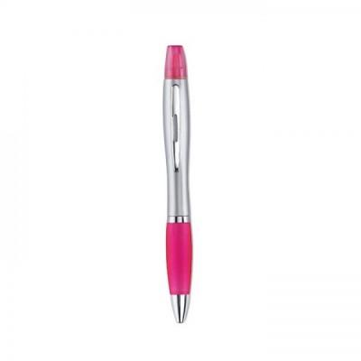 RIO DUO 2w1 długopis i zakreślacz różowy
