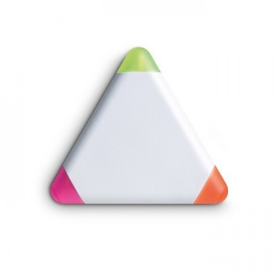 TRIANGULO Trójkątny zakreślacz z  3 kolorami