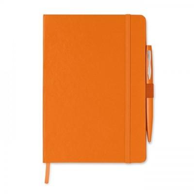 NOTAPLUS Notes A5 z długopisem pomarańczowy