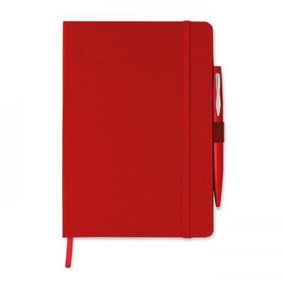 NOTAPLUS Notes A5 z długopisem czerwony