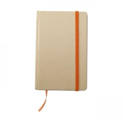 EVERNOTE Notes A6 z recyklingu z gumką pomarańczową