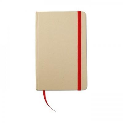 EVERNOTE Notes A6 z recyklingu z gumką czerwoną