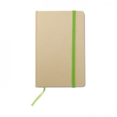 EVERNOTE Notes A6 z recyklingu z gumką limonkową