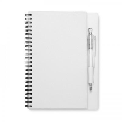 NOTY Notes A5 z długopisem przezroczysty