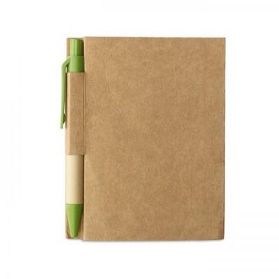 CARTOPAD Notes A6 z długopisem limonkowym
