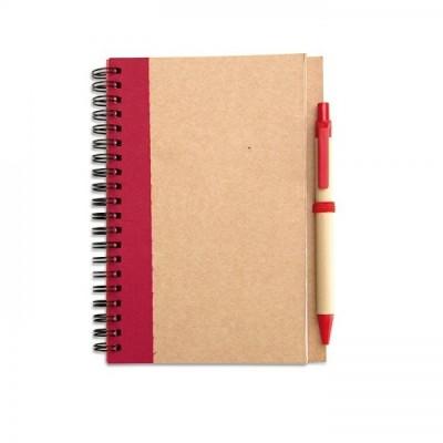 SONORA PLUS Notes A5 z długopisem czerwony