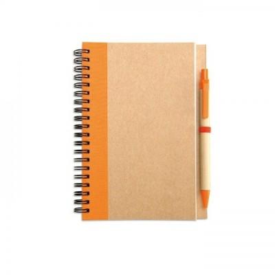 SONORA PLUS Notes A5 z długopisem pomarańczowy
