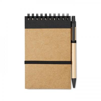 SONORA Notes A6 z długopisem czarny