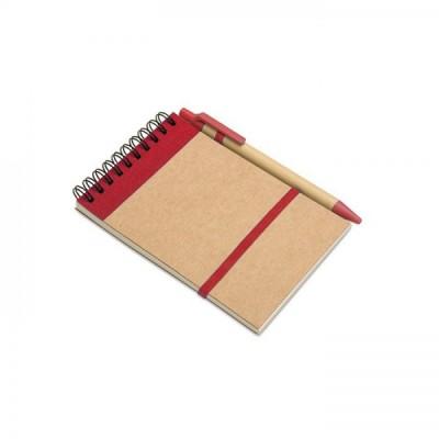 SONORA Notes A6 z długopisem czerwony