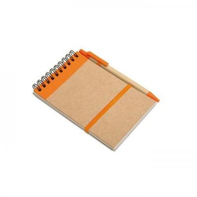 SONORA Notes A6 z długopisem pomarańczowy