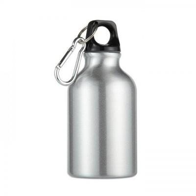 MOSS Mini bidon z karabinkiem poj. 300 ml srebrny