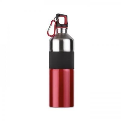 TENERE Bidon z karabinkiem poj. 750 ml. Czerwony