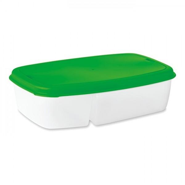 DILUNCH Lunch box ze sztućcami (zielony)