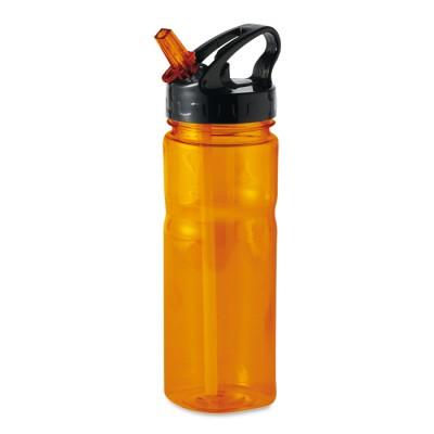 NINA Bidon 600 ml. - przeźroczysty pomarańczowy