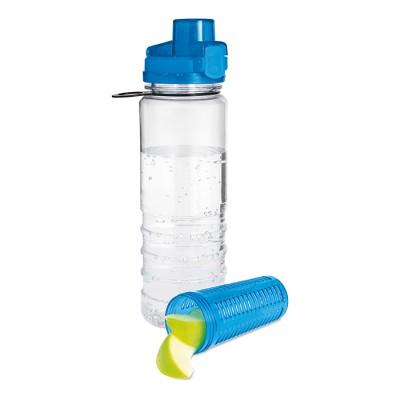 RICKY Plastikowy bidon z pojemnikiem na owoce - niebieski