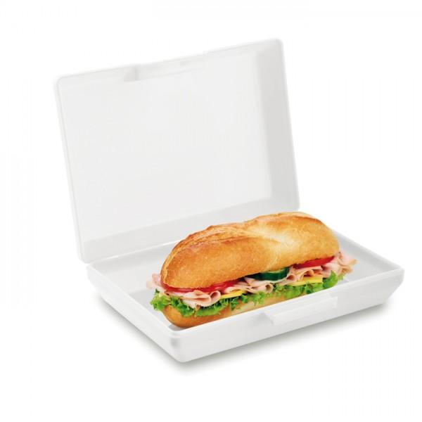 BASIC LUNCH Pudełko śniadaniowe z PP - białe