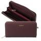 CACHAREL Elegancki portfel damski - bordowy (CEL636P)