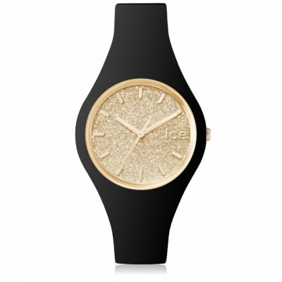 Zegarek ICE-WATCH glitter-Black Gold-Small kolor czarny