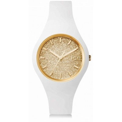 Zegarek ICE glitter-White Gold-Small kolor biały