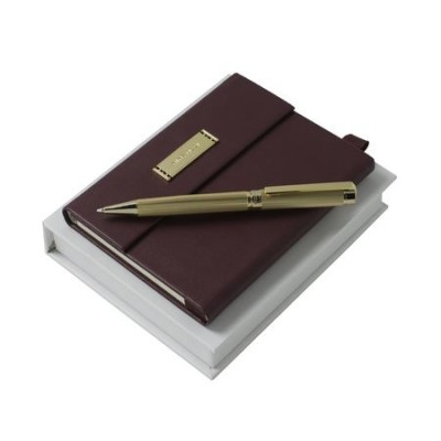 NINA RICCI Zestaw Evidence Burgundy Notes A6 + Długopis (RPBN499)