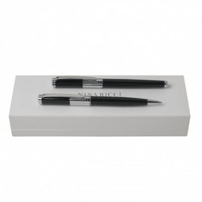 NINA RICCI Zestaw Eclat Chrome  Długopis + Pióro kulkowe RPBR652B