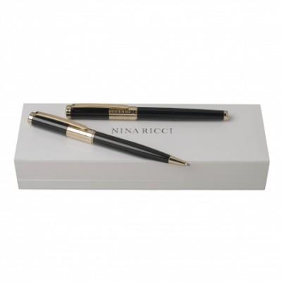 NINA RICCI Zestaw Eclat Gold Długopis + Pióro kulkowe RPBR652E