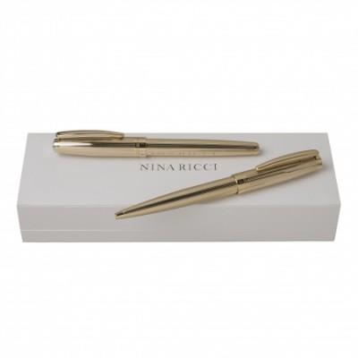 NINA RICCI Zestaw Ramage Gold Długopis + Pióro kulkowe RPBR641E