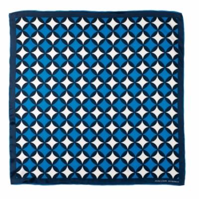 JEAN-LOUIS SCHERRER Jedwabny szal Boogie Blue SFM623L