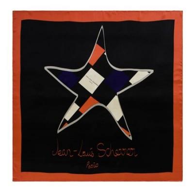 JEAN-LOUIS SCHERRER Apaszka `Star`kolor czarny SFL409