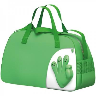 Torba sportowa Rączka, kolor zielony 6444409