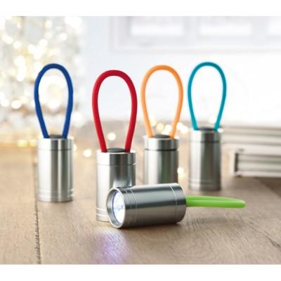 GLOW TORCH Aluminiowa latarka 6 LED - mix kolorów