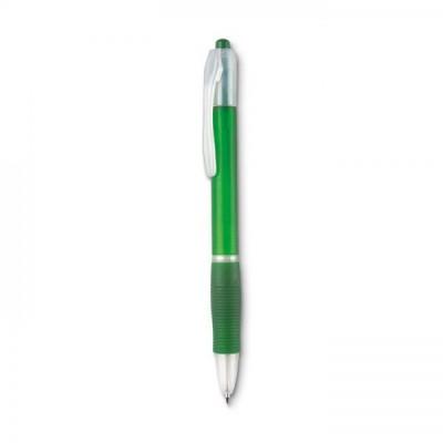 MANORS Długopis z gumą  przezroczysty zielony