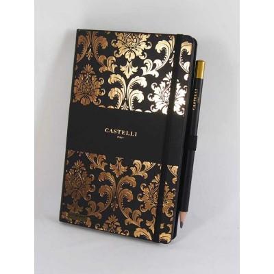 NOTES CASTELLI - KOLEKCJA BAROQUE - GOLD - (czarne ranty bloku)