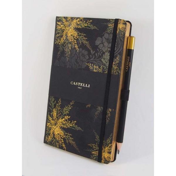 NOTES CASTELLI - KOLEKCJA - HEATHER - (złote ranty notesu)