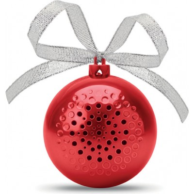 CX1449-05 JINGLE BALL  Głośnik bluetooth - bombka czerwona
