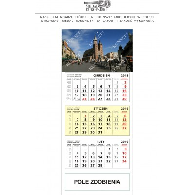 Kalendarz Trójdzielny z TWOJĄ REKLAMĄ – 50 szt.