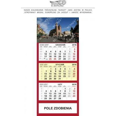 Kalendarz Trójdzielny z TWOJĄ REKLAMĄ – 25 szt.