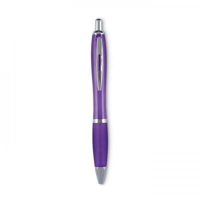 RIOCOLOUR Długopis z miękkim uchwytem fioletowy